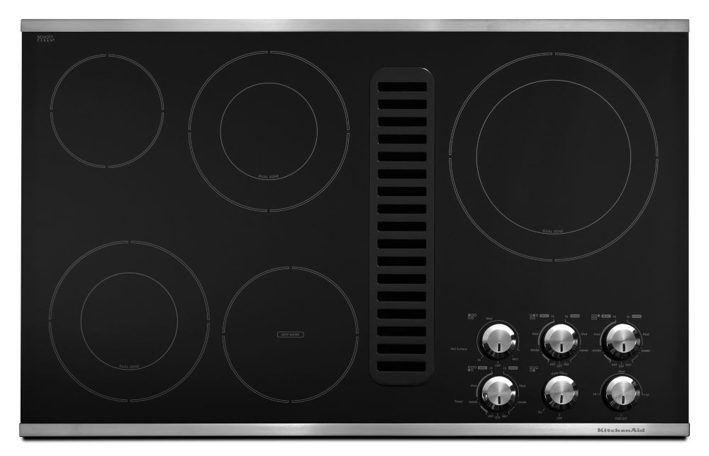 Architect Series II 35-inch Downdraft Electric Cooktop in Stainless Steel