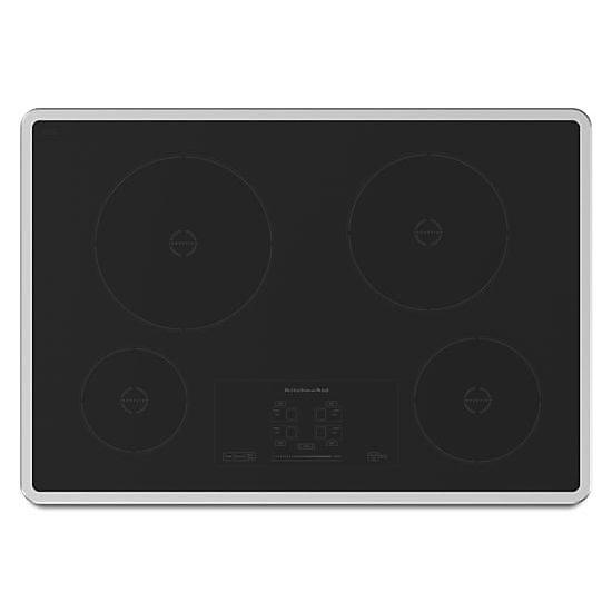 Plan de cuisson à induction de 30 po de la série II Architect en noir avec 4 éléments