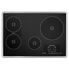 Architect Series II 30-inch Smooth Surface Induction Cooktop in Stainless Steel with 4 Elements including Bridge Element
