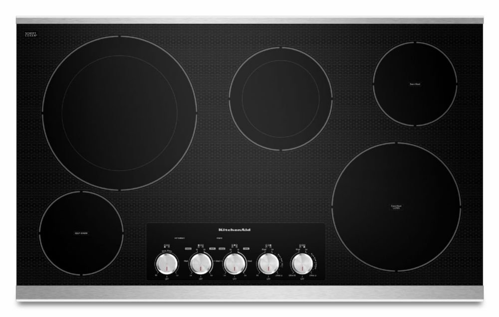Table de cuisson électrique de 36 po, 5 éléments avec technologie Even-Heat - KECC664BSS