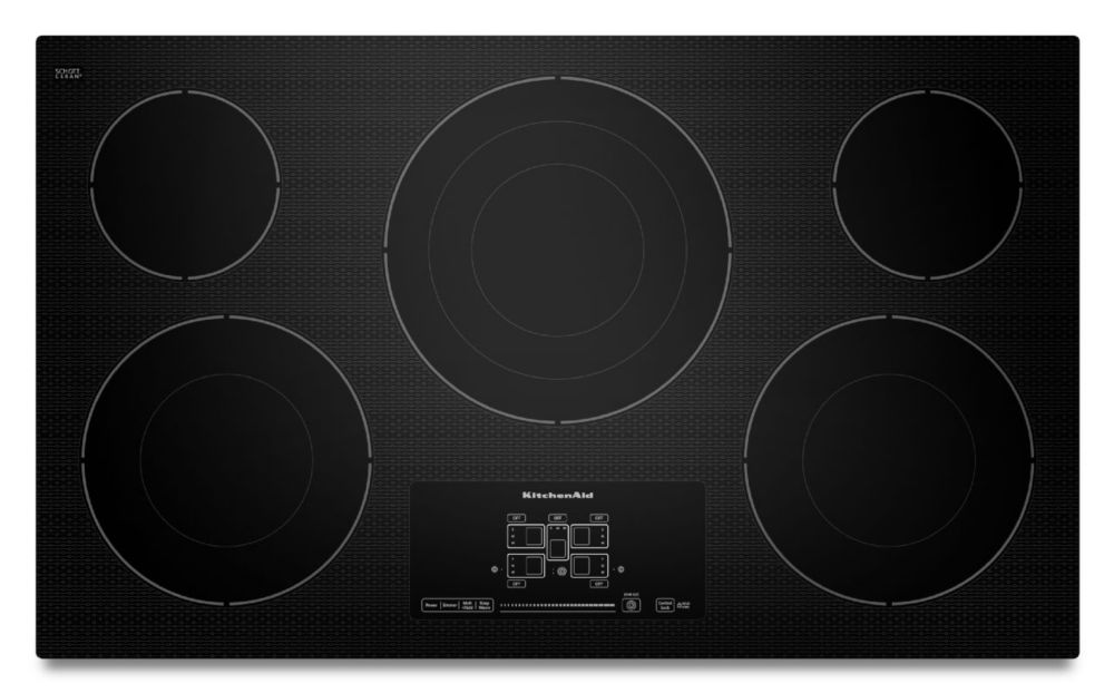 36-inch Electric Cooktop with Even-Heat� Technology and Touch-Activated Controls in Black