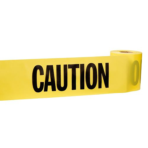 Empire 3-inch x 200 ft. Caution Tape in Yellow