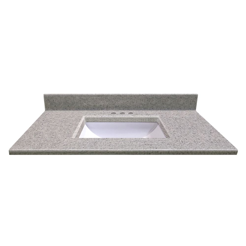 37 In. W x 22 In. D Montreal Moonscape Vanity Top with Undermount Wave Bowl 15174 Canada Discount