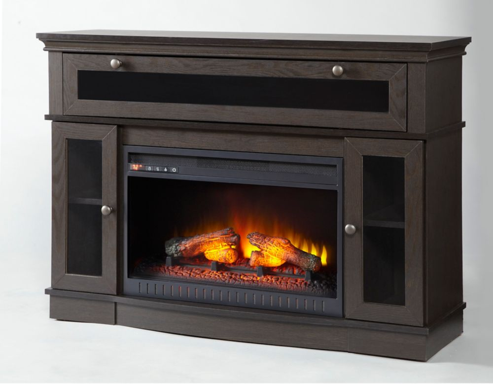 Home Decorators Aimee 46 Inch Media Electric Fireplace The Home Depot Canada