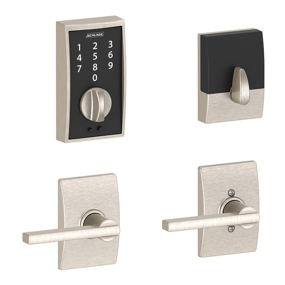 Touch Century Latitude Satin Nickel Combination Lock