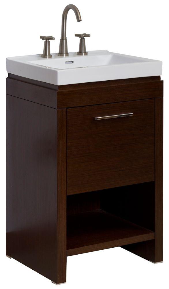 18 in d modern plywood veneer vanity set in wenge ai 3 1159 in canada