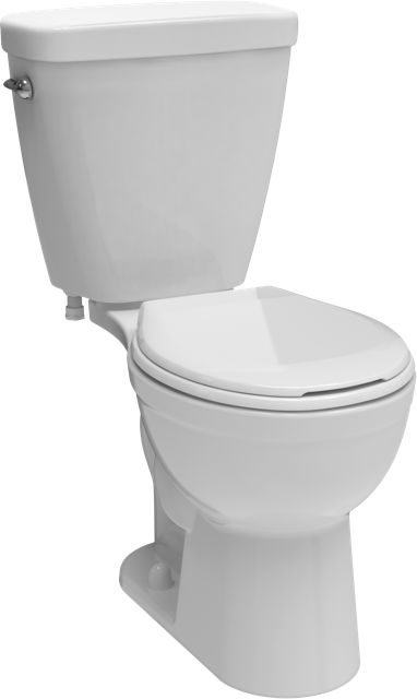 Delta Prelude 2-piece 1.28 GPF Single Flush Round Bowl Toilet in White