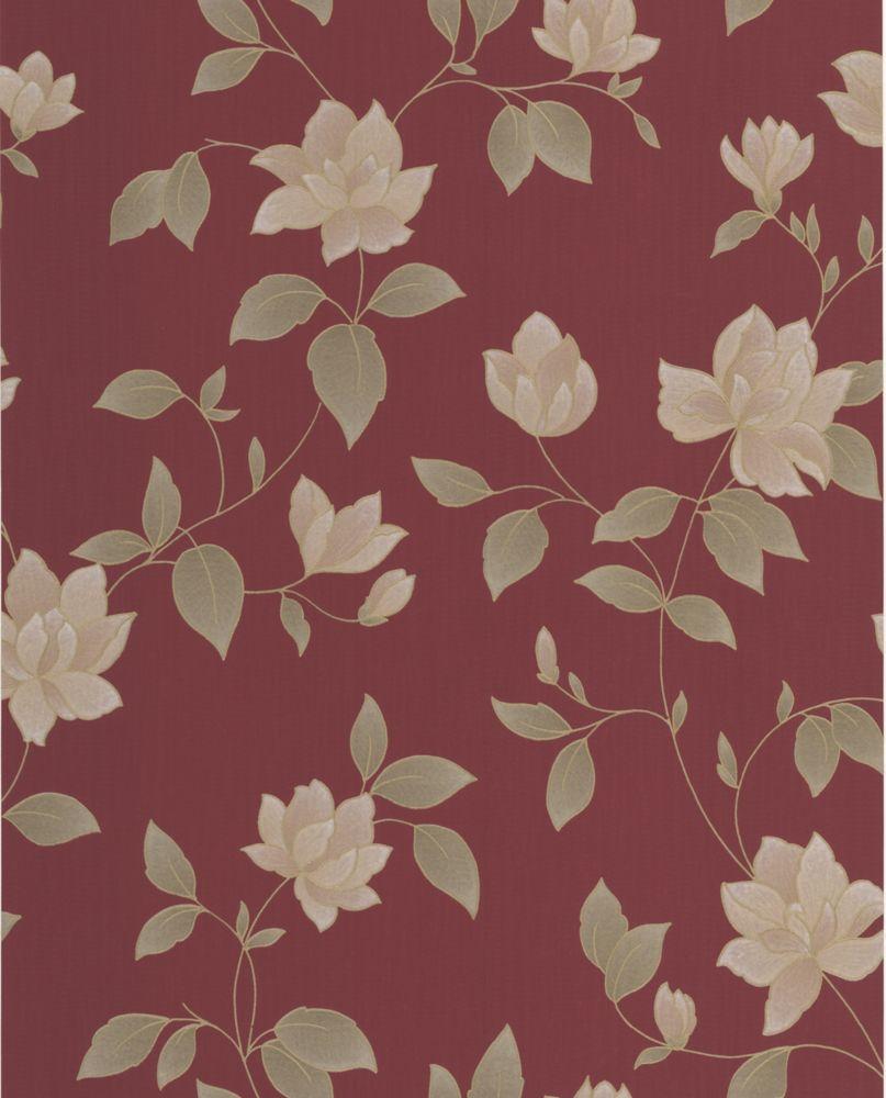 Amy Papier Peint Rouge - échantillon