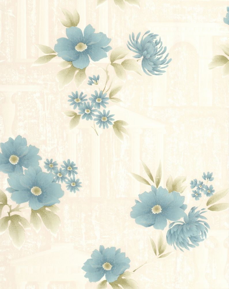 Rome Teal Wallpaper Sample