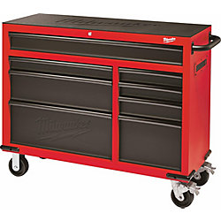 Milwaukee Tool 46-inch 8-Drawer Roller Cabinet Tool Storage Chest in Red and Black