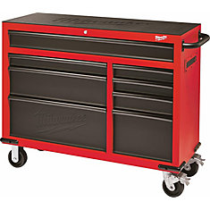 46-inch 8-Drawer Roller Cabinet Tool Storage Chest in Red and Black