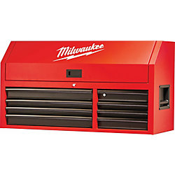 Milwaukee Tool 46-inch 8-Drawer Steel Tool Storage Chest in Red and Black