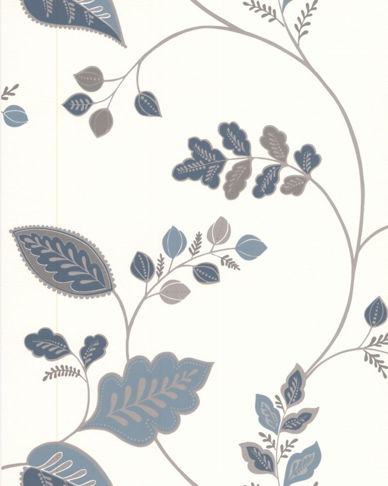 Folklore Blue Wallpaper Sample