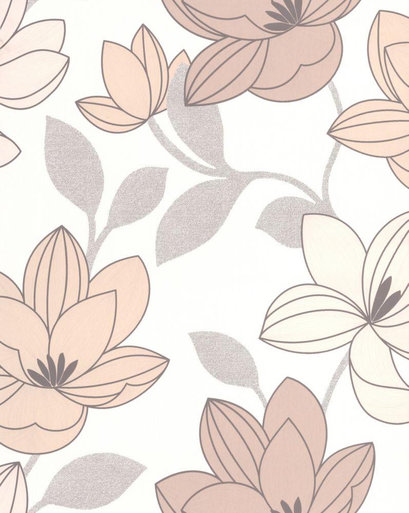 Superflora Papier Peint Crème - échantillon