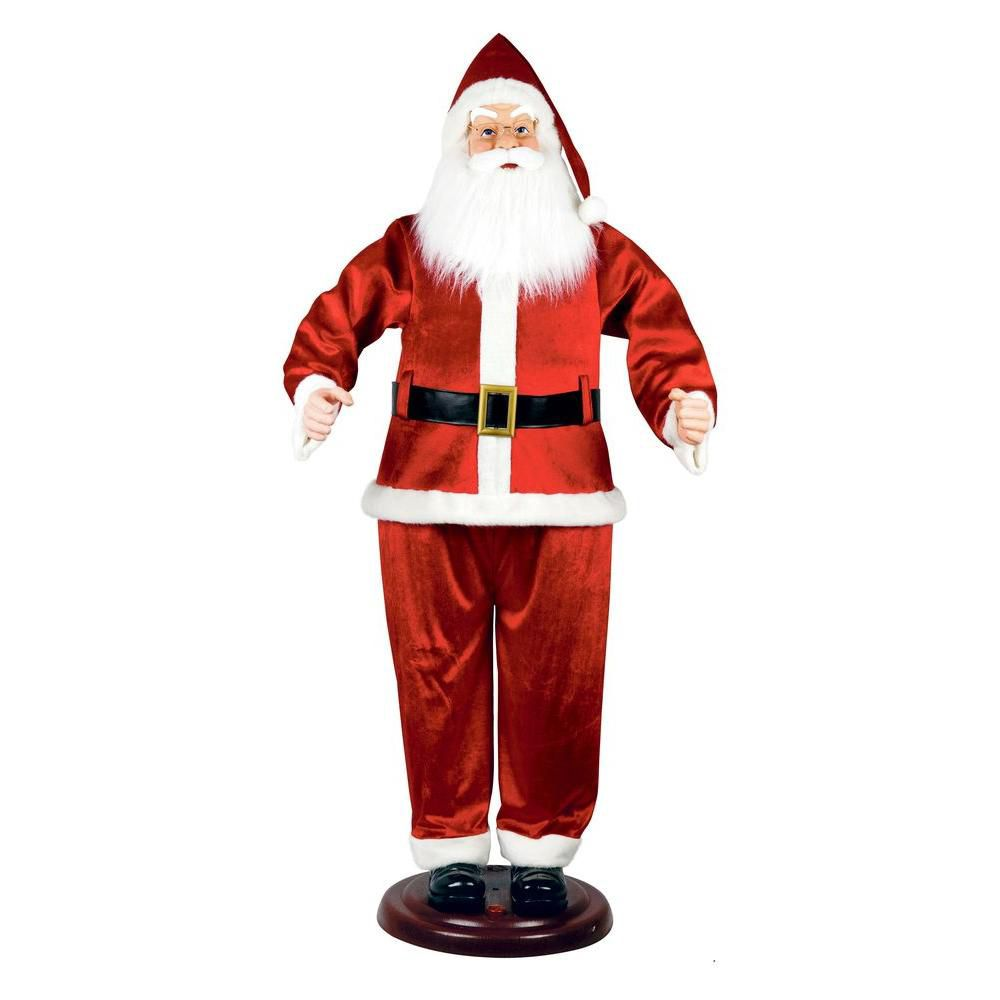 72 Inch KD Standing Santa With Animated Moving Hand, Animated Mouth Motion And Try-Me Feature � R...