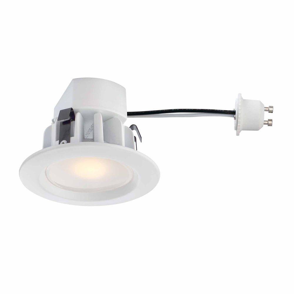 Recessed LED White Retrofit Trim GU10 Adaptor - 3 Inch