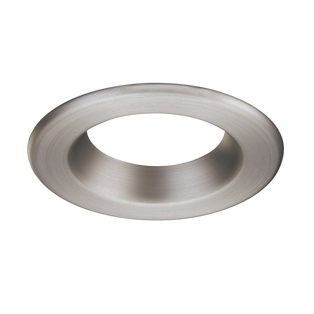 Commercial Electric LED Brushed Nickel Trim Ring - 4 Inch