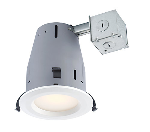 Commercial electric 4 inch recessed led light kit in white 4 pack 4 inch recessed led light kit in white 4 pack aloadofball Images