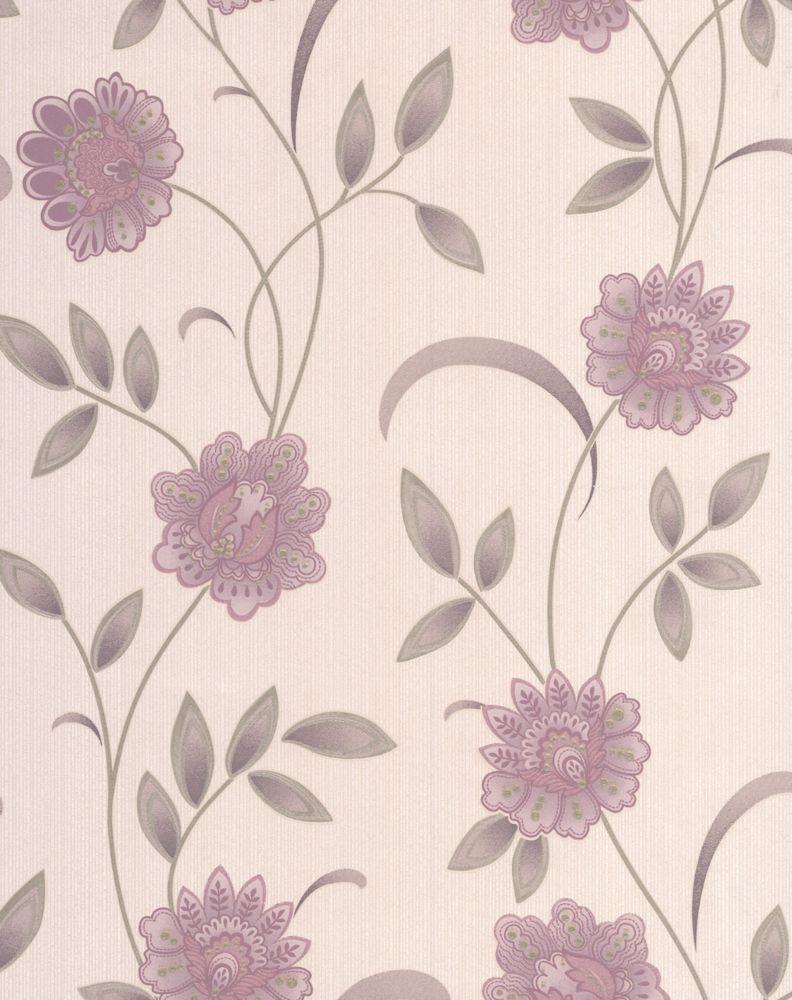 Sadie Papier Peint Violet - échantillon