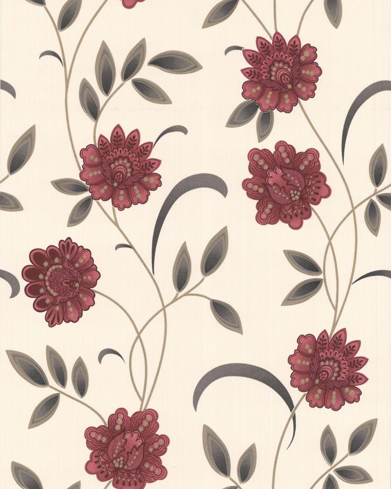 Sadie Papier Peint Rouge - échantillon