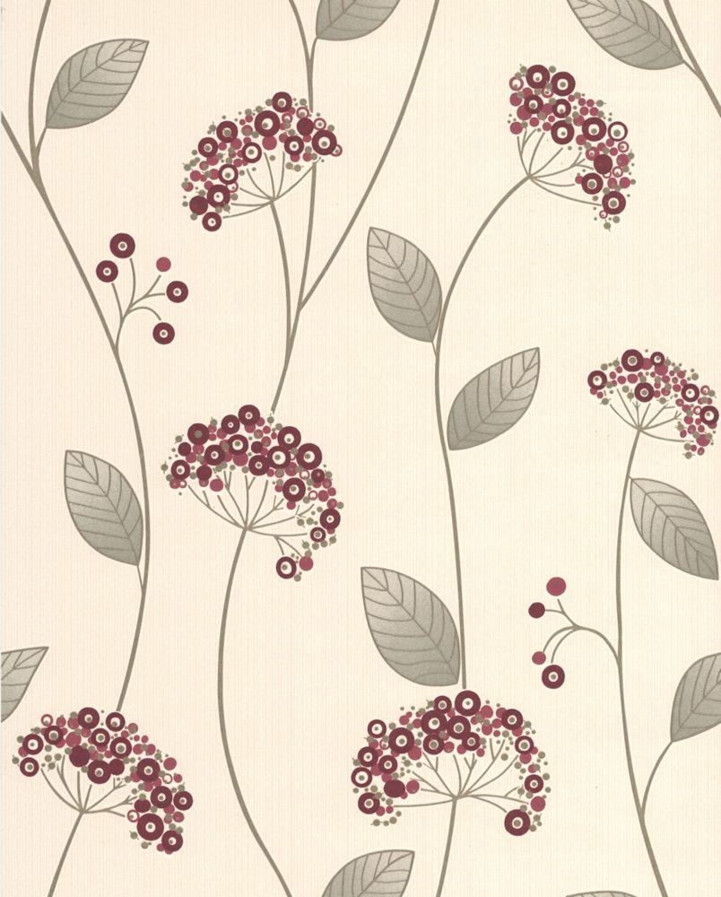 Claire Papier Peint Rouge - échantillon