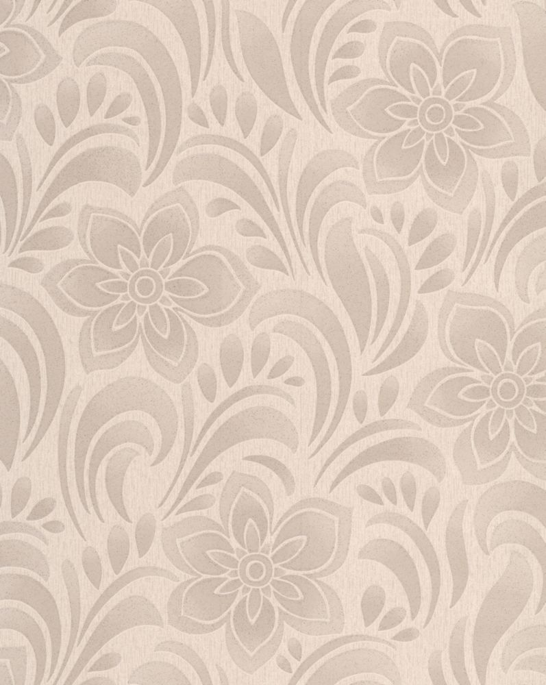 Jacquard Floral Biscuit Wallpaper Sample