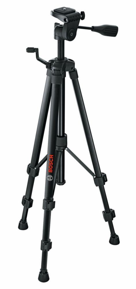Trépied compact avec hauteur extensible pour l'utilisation avec des lasers de ligne et de point et des mesures laser