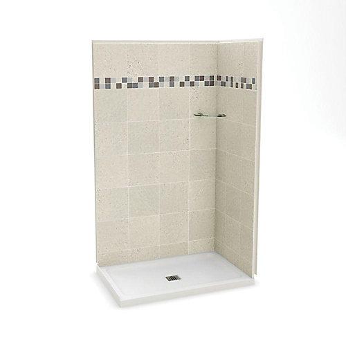 Utile 32-Inch  x 48-Inch  Corner Shower Stall in Stone Sahara