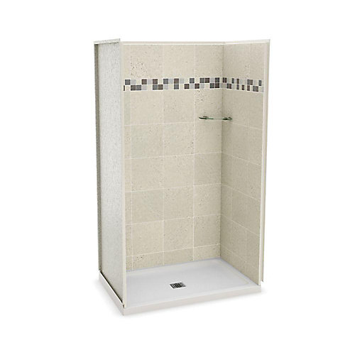 Utile 32-Inch x 48-Inch Alcove Shower Stall in Stone Sahara