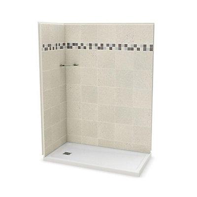 Utile 32 Inch X 60 Corner Shower Stall In Stone Sahara