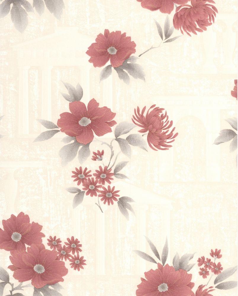 Rome Red Wallpaper Sample