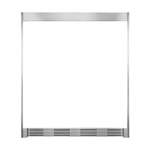 Double Louvered Trim Kit in Smudge Proof Stainless Steel