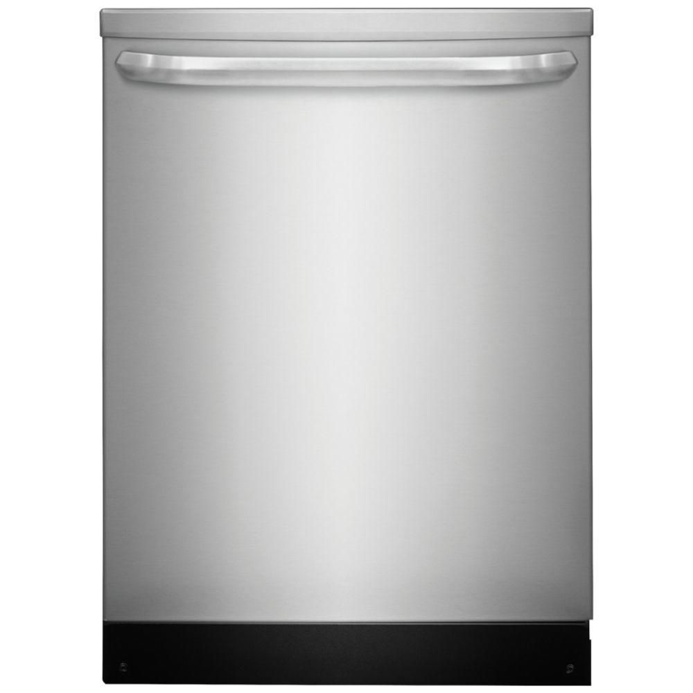 Frigidaire 24 inch built in dishwasher in stainless steel for 24 inch built in microwave stainless steel