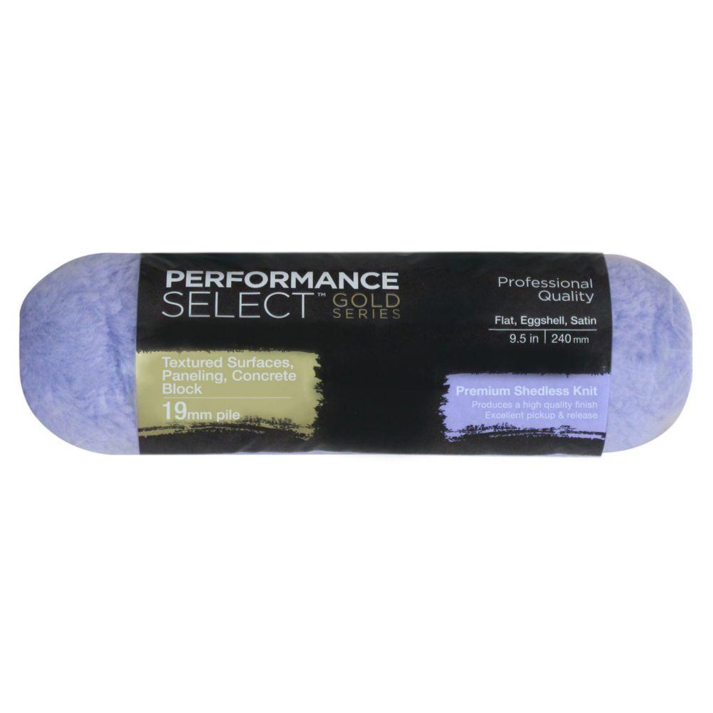 Manchon de rouleau tricot non pelucheux Performance Select Gold 240mm- poils 19mm (3/4 po)