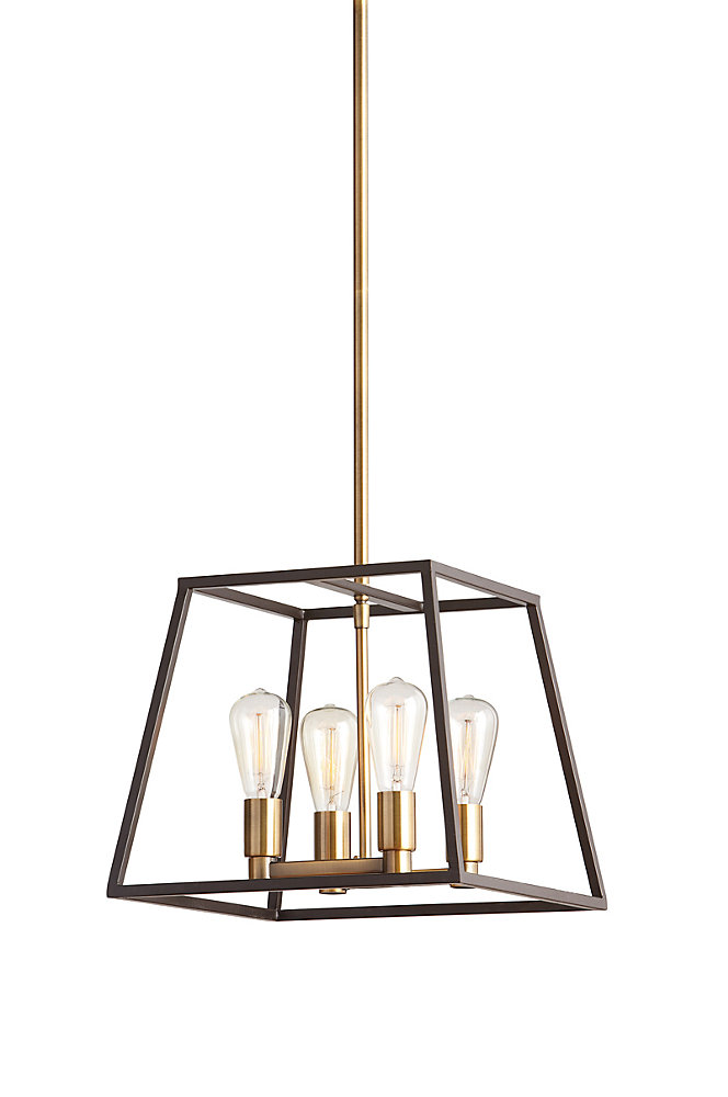 Home Decorators Collection 4-Light 60W Gold Pendant With