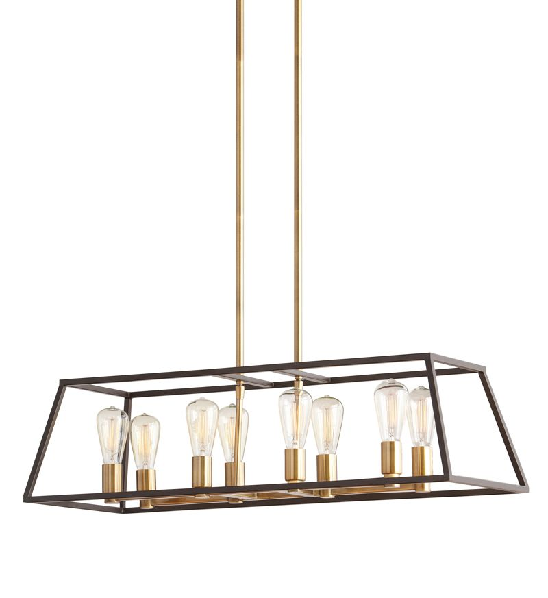 Home Decorators Collection HDC 8 Light Two Tone Retro Pendant