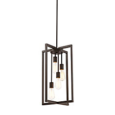 4-Light Pendant in Oil-Rubbed Bronze