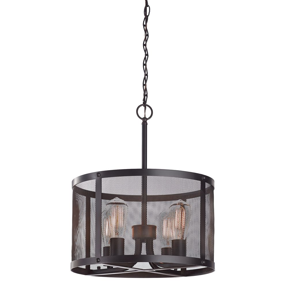 Home Decorators Collection 4 Light Mesh Pendant The Home Depot