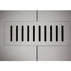 Ceramic vent cover made to match Gris Pearl tile. Size - 4-inch x 11-inch