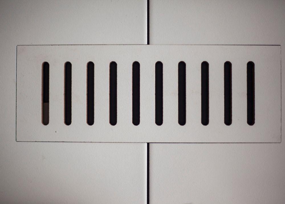 """Les couvercles céramiques de ventilation fait pour correspondre. Gris Pearl. Taille 4"""" x 11"""""""