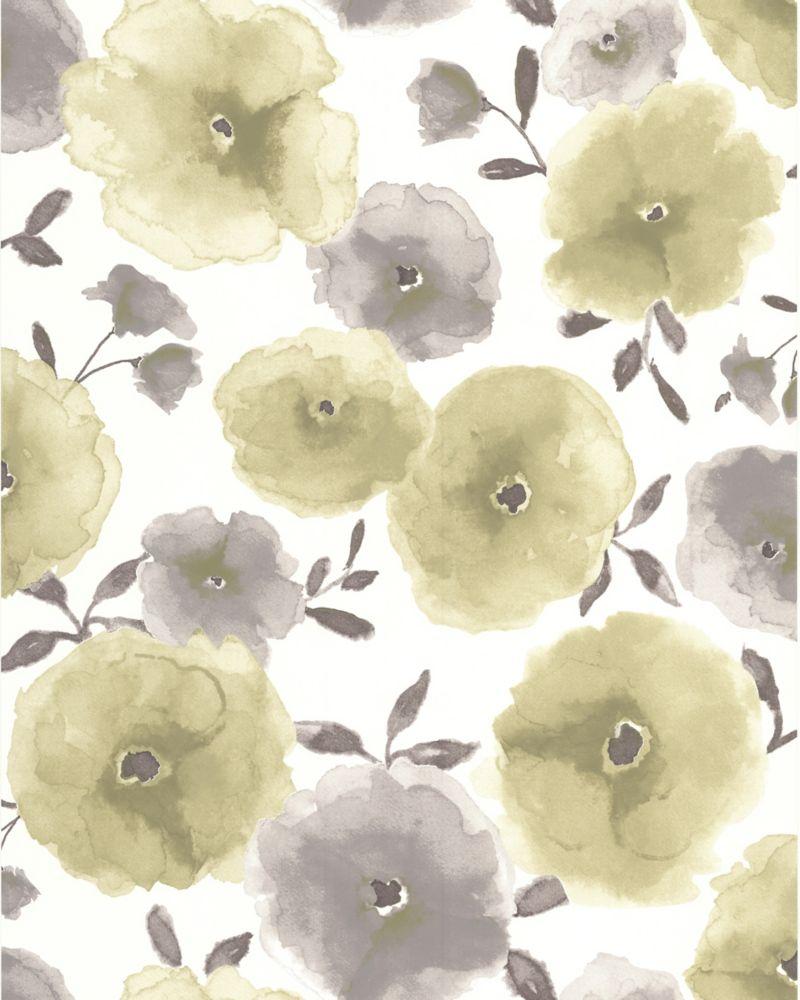 Poppies Green Wallpaper Sample 32-46494 Canada Discount