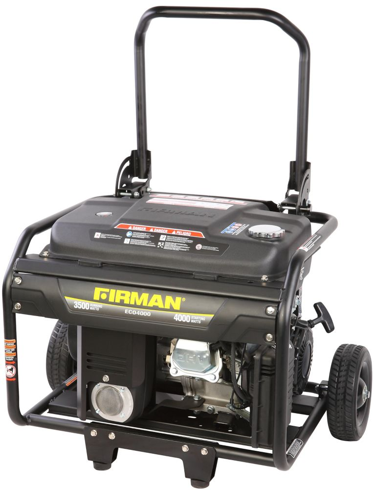 Firman 4000 Watt Gas Powered Portable Generator with Engine and Wheel Kit