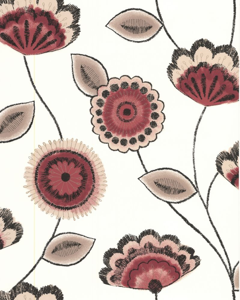 Romany Red Wallpaper Sample