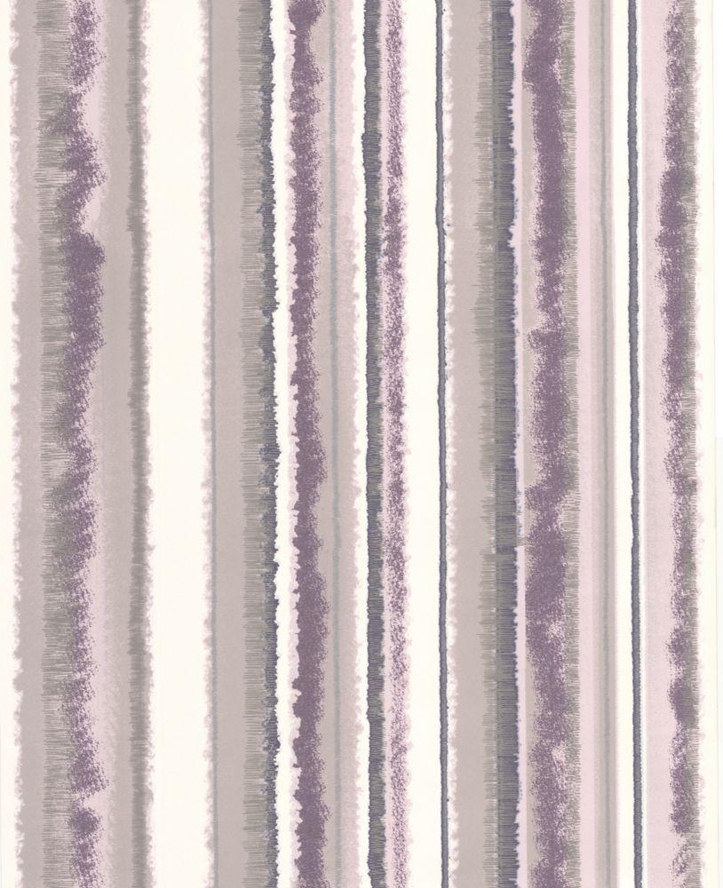 Romani Rayure Papier Peint Violet - échantillon