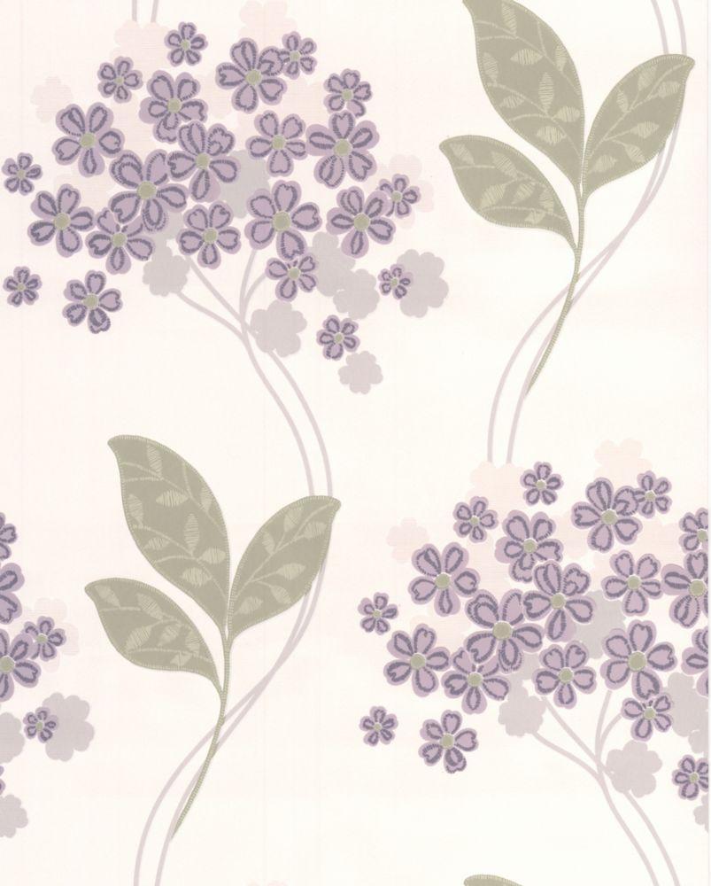 Festival Lavender Wallpaper Sample 20-61394 Canada Discount