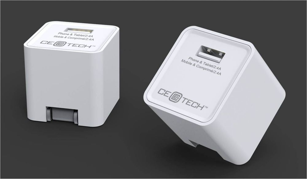 Square Ac Charger 1 Port White