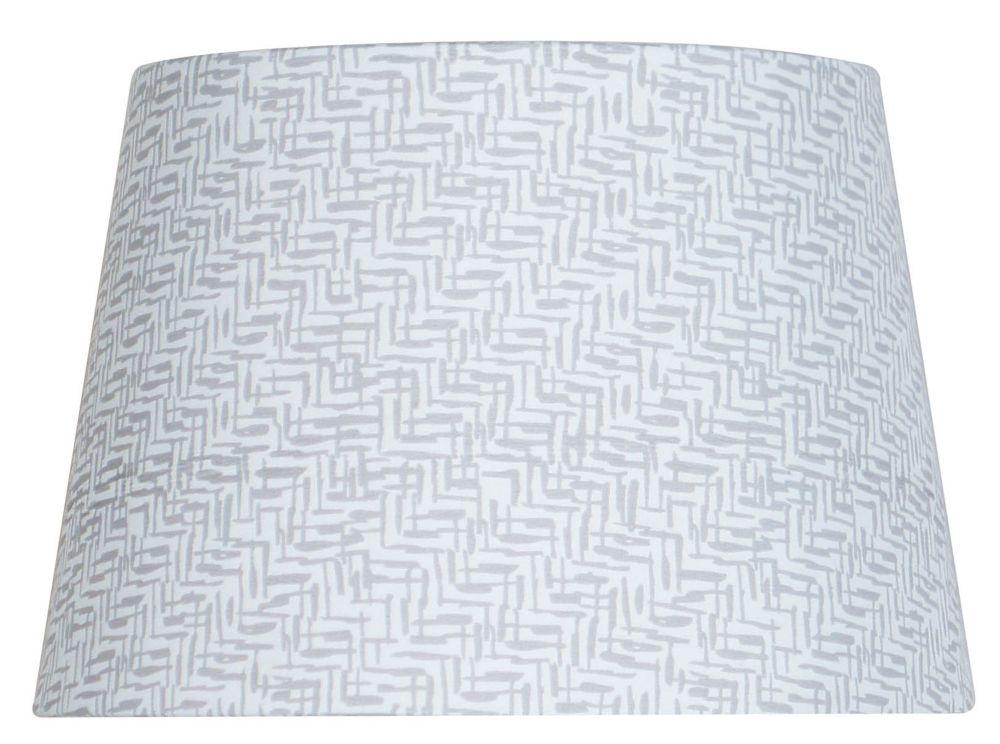Abat-jour gris tambour à motif zigzag pour lampe d'appoint de 7 po.
