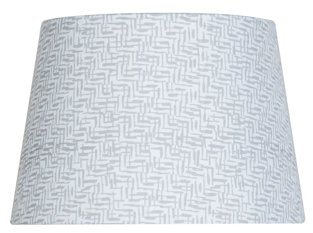 Hampton Bay 7  Inch  Grey Zig Zag Drum Accent Shade