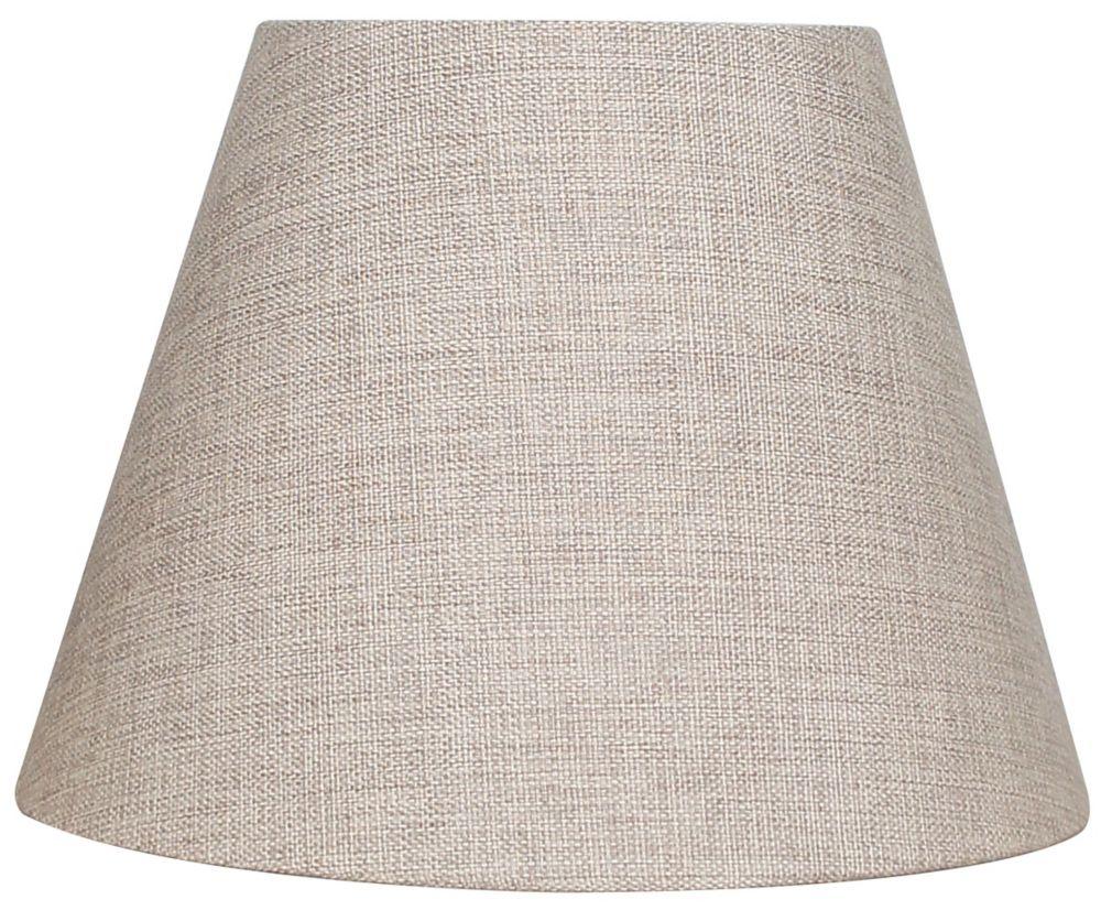 Abat-jour rond beige pour lampe de table de 10.5 po.