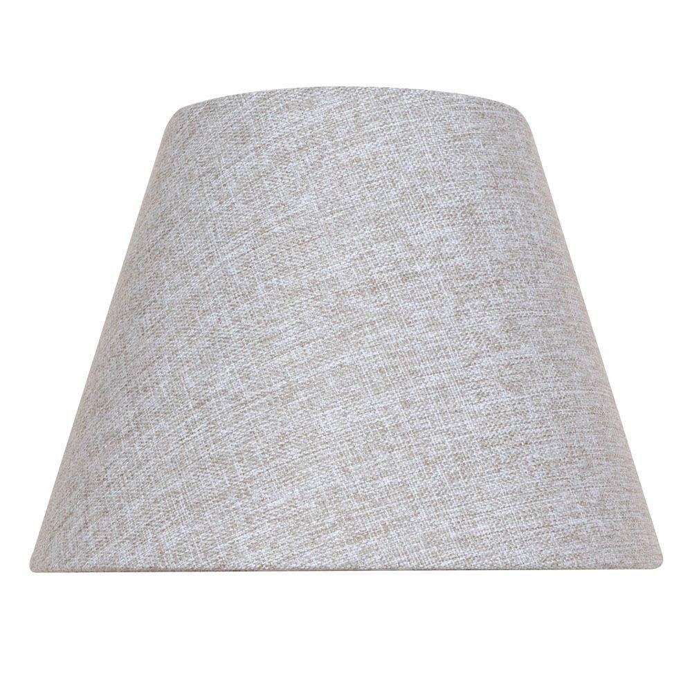 Abat-jour rond gris pour lampe de table de 10.5 po.